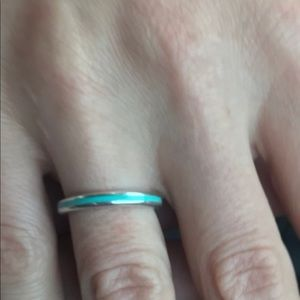 Jewelry - Tiffany and co Blue Enamel Ring Size 5.5/6